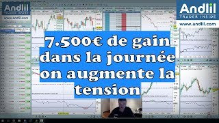 Andlil +7500€ dans la journée en day trading scalping Benoist Rousseau