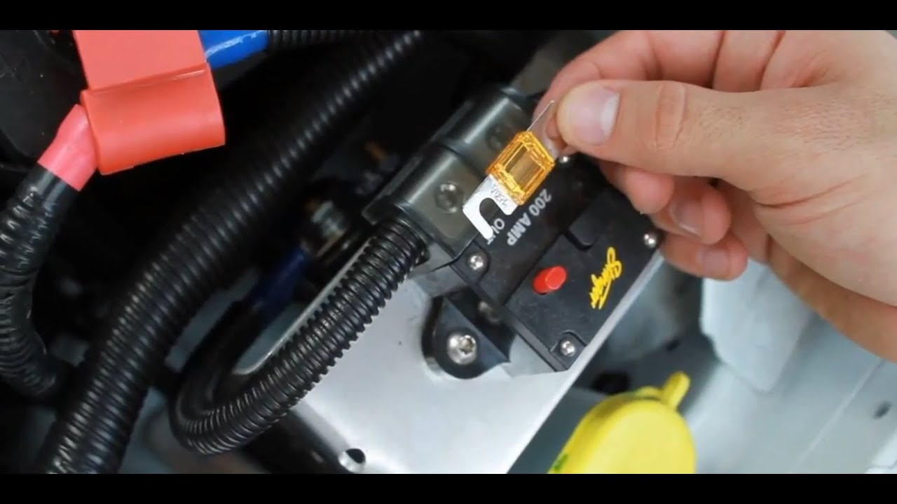 maxresdefault how to change a car amplifier fuse car audio youtube 30 Amp Automotive Fuse at sewacar.co