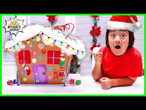 How to Make DIY Gingerbread House from cardboard Holiday Crafts
