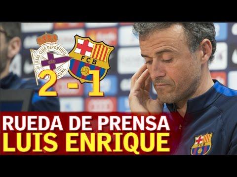 Deportivo 2-1 Barcelona | Rueda de prensa Luis Enrique | Diario AS