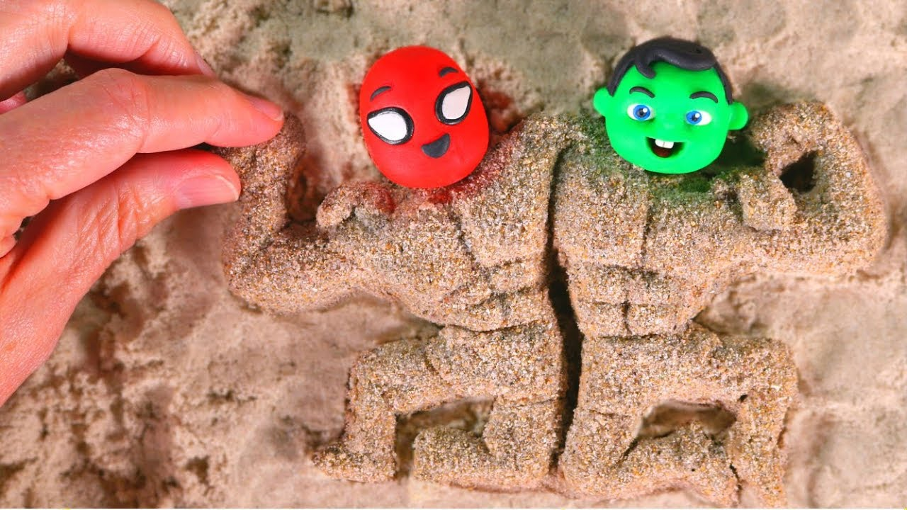 FUNNY KIDS BECOME VERY MUSCULAR Play Doh Cartoons For Kids ...  FUNNY KIDS BECO...