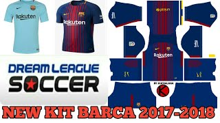 Rakuten New All Kits 2017 2018 Of Barcelona In Dream League Soccer
