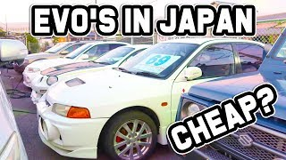 CHEAP EVO'S FOR SALE IN JAPAN!?