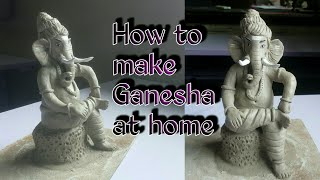 Eco friendly Ganesha | how to make mangal murti
