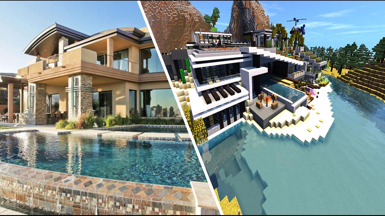 Image De Maison Moderne. Stunning Visite De Maison Moderne Minecraft ...