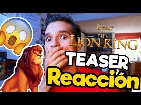 El Rey Leon Live-Action 2019 REACCION Teaser Trailer / Memo Aponte