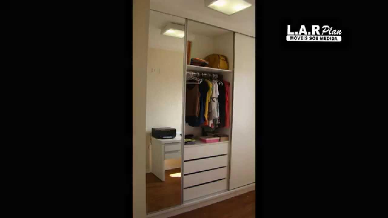 Guarda Roupa L ~ Guarda roupa em L porta de correr planejado YouTube