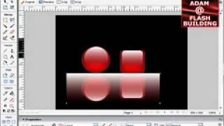 Shiny reflective gel buttons video tutorial in Adobe Fireworks CS3 CS4 CS5