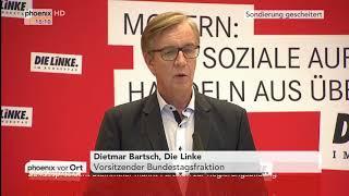Pressekonferenz mit Sahra Wagenknecht und Dietmar Bartsch am 20.11.17