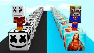 LUCKY BLOCKS DIOS 👼 vs LUCKY BLOCKS MARSHMELLO 🎵 EN MINECRAFT MODS Video
