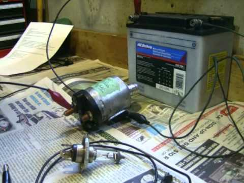 Starter Solenoid Relay Wiring Diagram Bench Test Solenoid From Ironhead Sportster Youtube