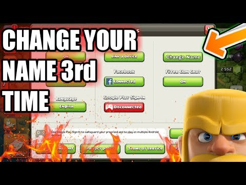 WOW {Change Your Name 3rd Time In Coc}..? Clash Of Clans