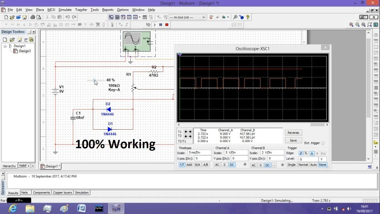 simulation for 555 timer pwm controller using multisim youtube
