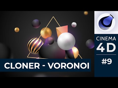 Cinema 4D Bài 09: Làm quen Mograph, ứng dụng lệnh Cloner và Voronoi Fractor