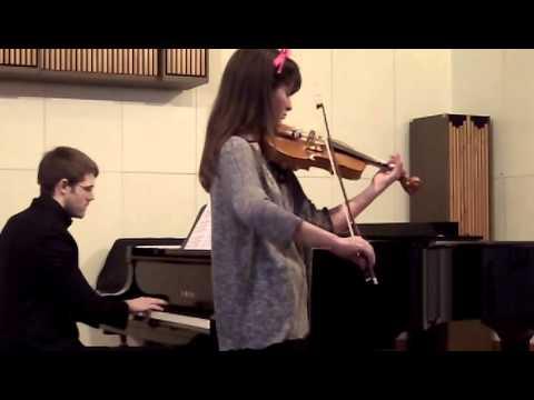Sara Schisa, violino, 11 anni, Concorso nazionale Slovenia  febbraio 2015