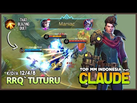 New Perfect Marksman? Claude Epic Skill Combo by RRQ`Tuturu Top Marksman Indonesia ~ Mobile Legends
