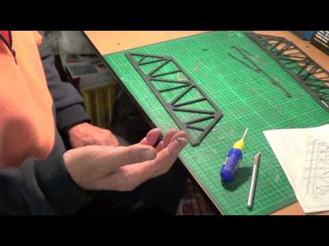 """Walthers Double Track Truss Bridge 3012 Part One """"Model Trains"""""""