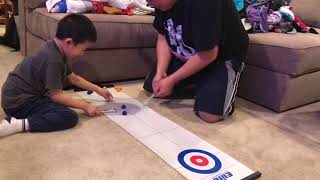 Winter Olympics 2018: Team Ong (USA) in the Curling Event.