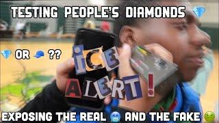 Testing People's Diamonds 💎 Pt 1 ( High School Edition) 🥶 #diamondtester #viral #funny