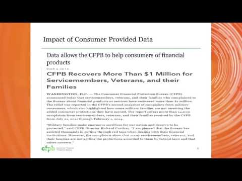 Protecting Consumers of Financial Products and Services