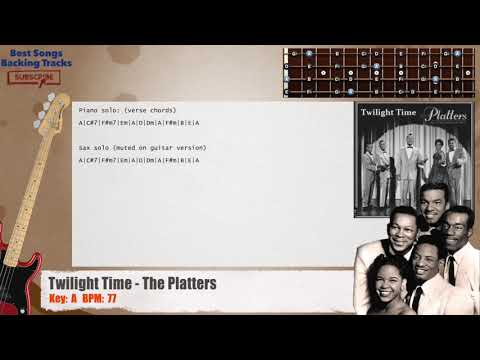Twilight Time - The Platters Bass Backing Track with chords