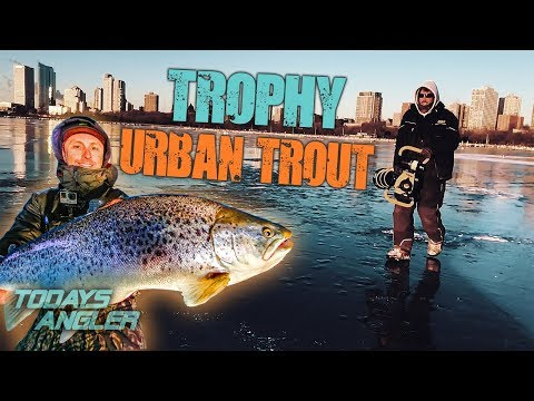 Ice Fishing TROPHY URBAN TROUT - Milwaukee, WI - Todays Angler