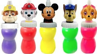 Paw Patrol & Mickey Mouse Slime Surprise Toys | Fizzy Fun Toys