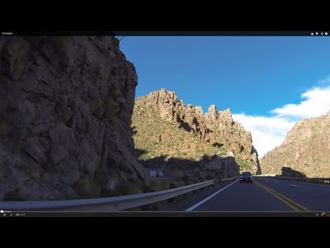 Superior, Arizona Tunnel to Gold Canyon, AZ on US Route 60 Highway, Rear View, GP016625