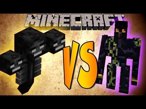 WITHER VS GOLEM - Minecraft Batallas de Mobs - Mods