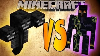 WITHER VS GOLEM - Minecraft Batallas de Mobs - Mods