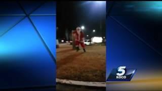 Dancing Santa makes suprise Oklahoma City appearance