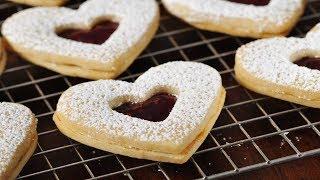 Raspberry White Chocolate Shortbreads Recipe Demonstration - Joyofbaking.com