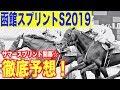 【函館スプリントS2019】毎年のように荒れているレース。過去の傾向はしっかりおさえ…