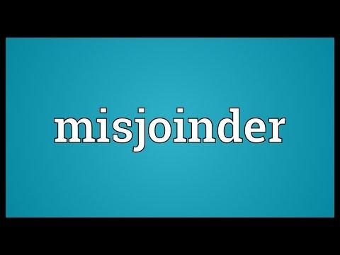 Header of misjoinder