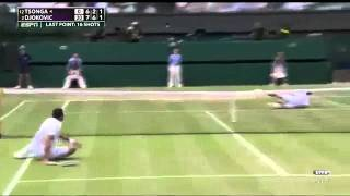 Самый красивый розыгрыш в большом теннисе. Матчпоинт.