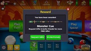 8 Ball pool free MONSTER CUE reward 2018|Technology tricks