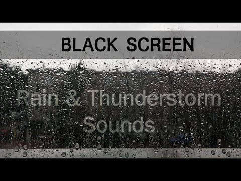 ..:: Black Screen ::.. Rain and Thunderstorm Sounds for Sleeping [ 1 hour 47 min ]