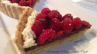 How To Make Almond Chocolate Tart With Raspberries