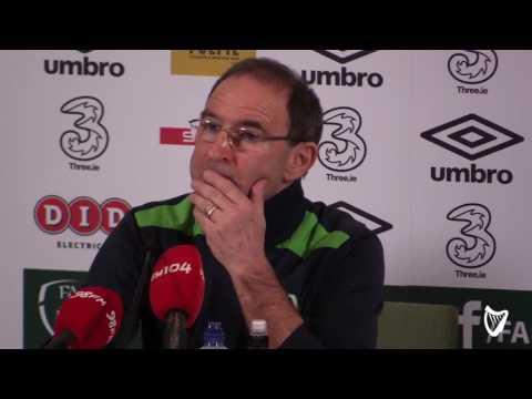 Ireland manager Martin O'Neill on Seamus Coleman injury 2017 (Post match Interview)