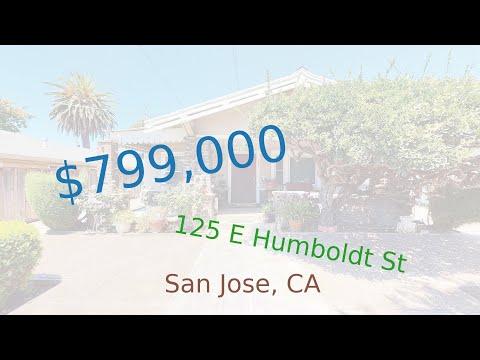 $799,000 San Jose home for sale on 2020-11-18 (125 E Humboldt St, CA, 95112)