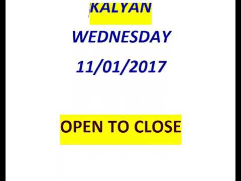 KALYAN 11/01/2017 OPEN 2 CLOSE SURE GAME