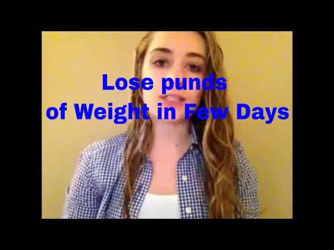 Lose punds of Weight in Few Days
