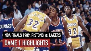 Throwback NBA Finals 1989. Detroit Pistons vs LA Lakers Game 1 Full Highlights. Magic vs Thomas HD