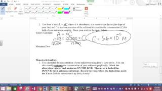 Help with Beer's Law Lab Calculations