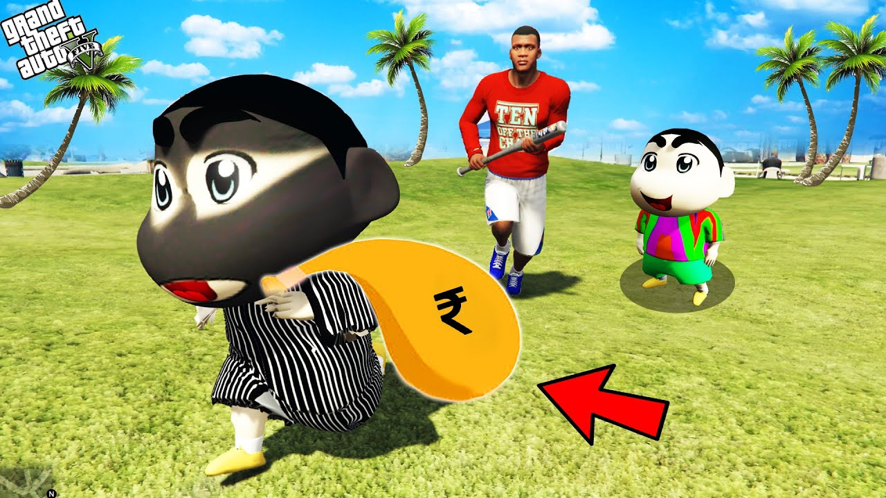 Download GTA 5 : Franklin Try To Chase Biggest Thief Shinchan in GTA 5 ! (GTA 5 mods)