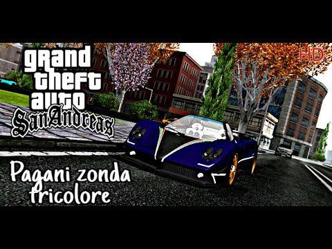GTA SAN Mobile | Review Pagani Zonda Tricolore