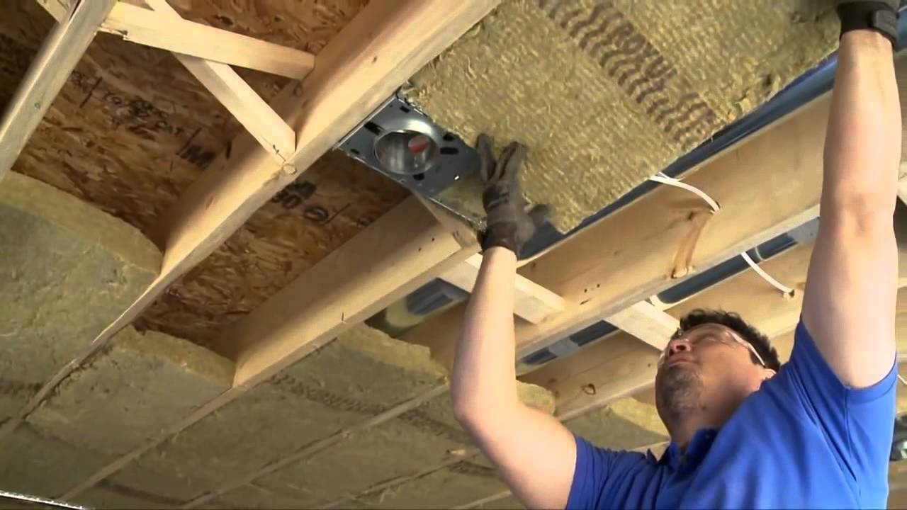 Insulating Amp Soundproofing Around Pot Lights Or Recessed Lighting Youtube