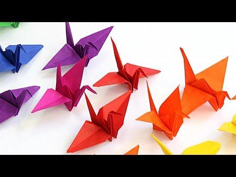 diy origami - kraanvogel vouwen voor kinderen - makkelijk - youtube