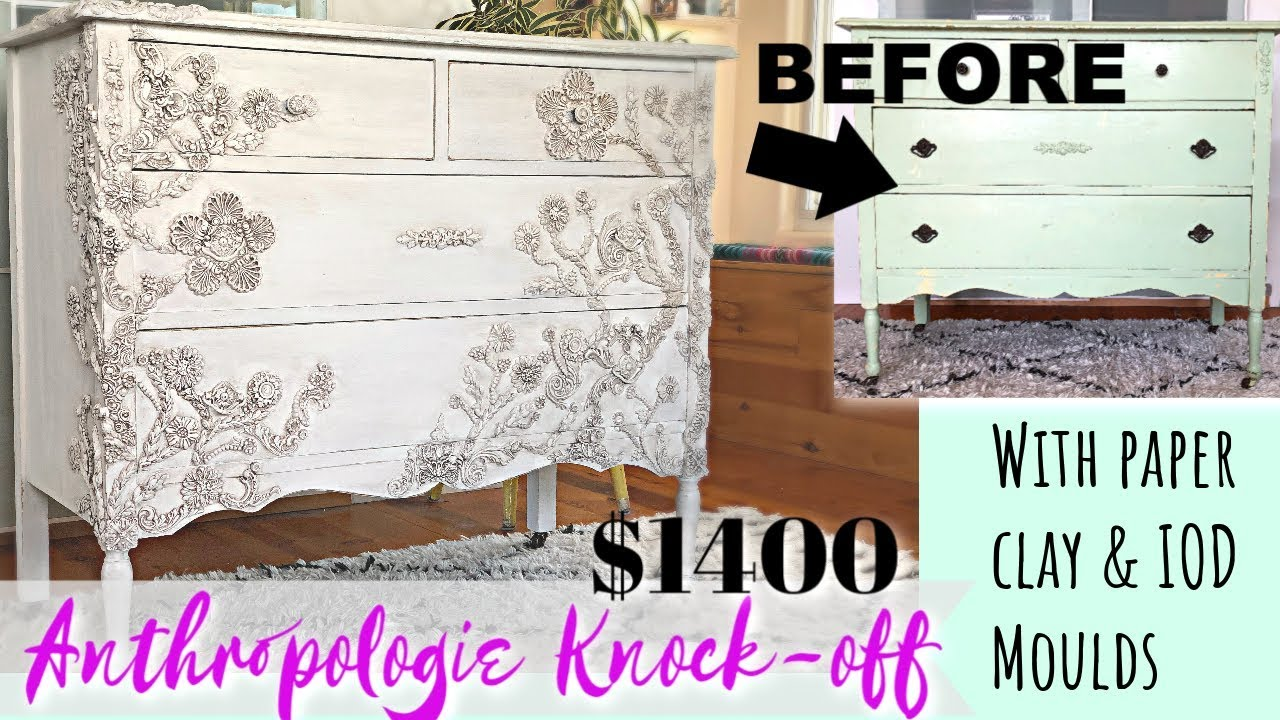 Anthropologie Knock Off 1400 00 Dresser With Clay And Iod Moulds