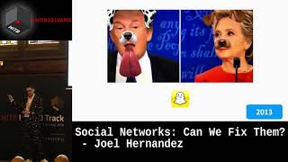 #HITBHaxpo D1 - Social Networks: Can We Fix Them? - Joel Hernandez